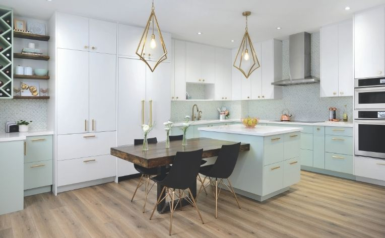 Dining Room Kitchen Home Design Example